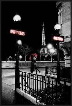 Plagát Paríž metro