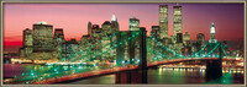 Plagát New York - manhattan colour