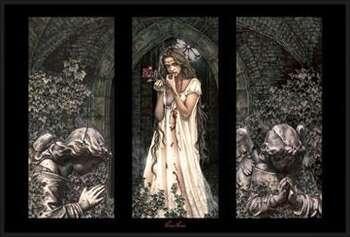 Plagát Victoria Frances - triptych