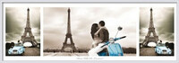 Plagát Paríž - triptych