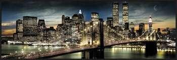 Plagát Manhattan - night and moon