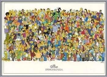Plagát The Simpsons - cast