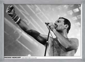 Zarámovaný plagát Freddie Mercury - Wembley 1984