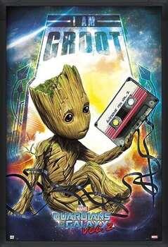 Zarámovaný plagát Guardians Of The Galaxy Vol 2 - Groot