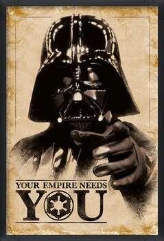 Zarámovaný plagát Star Wars - Your Empire Needs You
