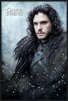 Zarámovaný plagát Game of Thrones - Jon Snow