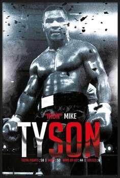 Zarámovaný plagát Mike Tyson - Boxing Record