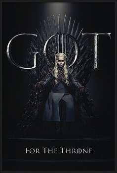 Zarámovaný plagát Game Of Thrones - Daenerys For The Throne