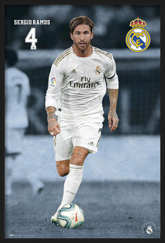 Zarámovaný plagát Real Madrid 2019/2020 - Sergio Ramos