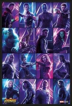 Zarámovaný plagát Avengers: Infinity War - Heroes