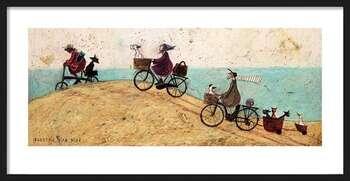 Zarámovaný plagát Sam Toft - Electric Bike Ride