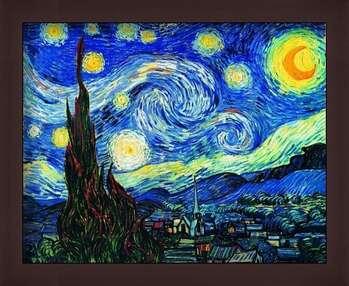 Zarámovaný plagát The Starry Night, June 1889