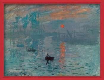 Zarámovaný plagát Impression, Sunrise - Impression, soleil levant, 1872