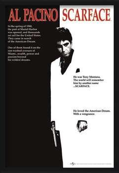 Zarámovaný plagát Scarface - movie