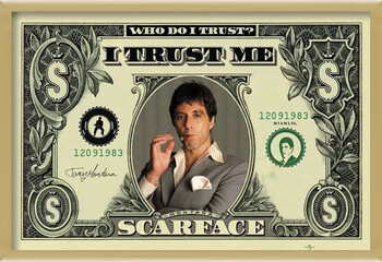 Zarámovaný plagát SCARFACE - dollar