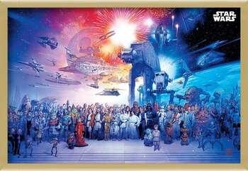 Zarámovaný plagát Star Wars - Universe