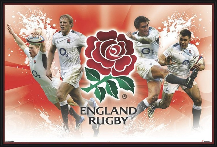 Plagát  England rugby - players