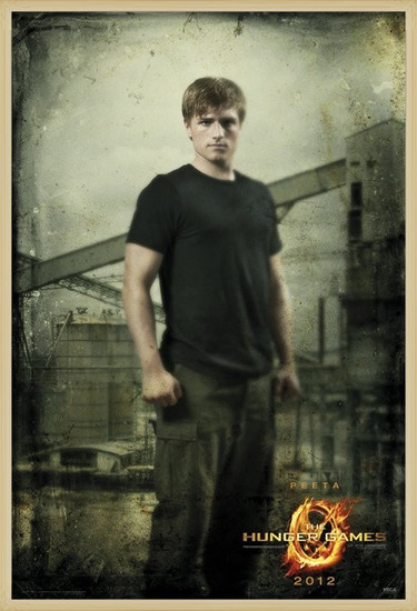 Plagát  HUNGER GAMES - peeta in district