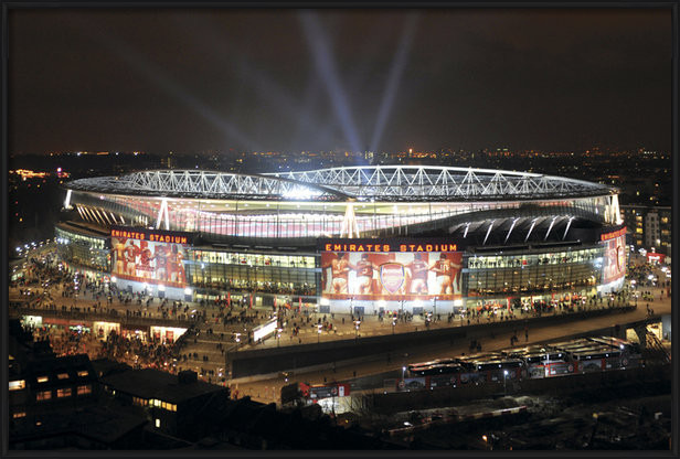 Plagát  Arsenal - emirates stadium night