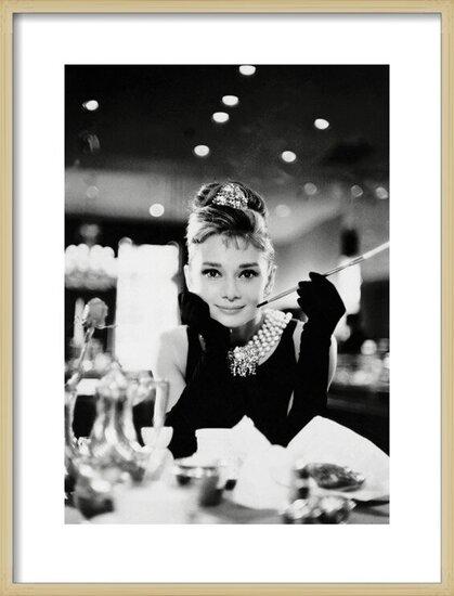 Audrey Hepburn - Tiffany b&w Obrazová reprodukcia