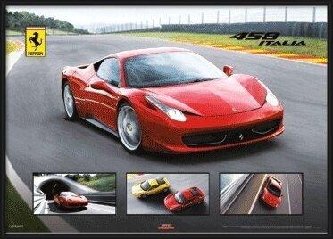 3D Plagát  Ferrari 458 Italia