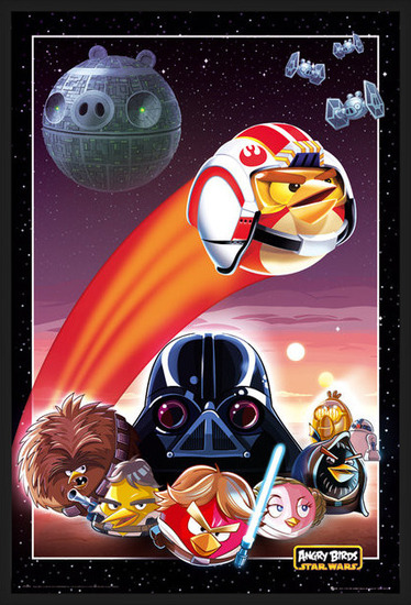 Plagát  Angry birds Star Wars - collage