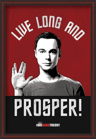 Plagát  THE BIG BANG THEORY - live long and prosper