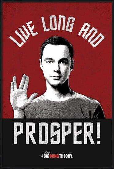 Plagát THE BIG BANG THEORY - live long and prosper