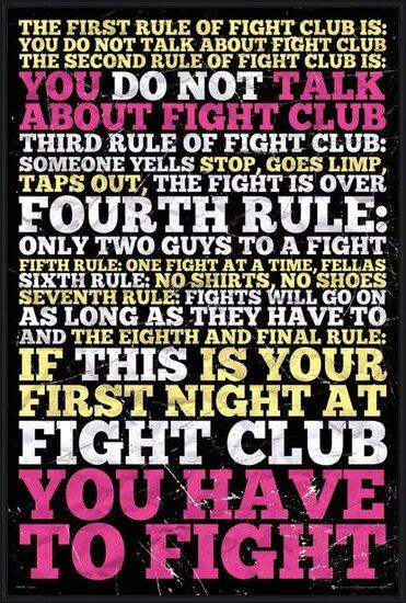 Plagát Fight club -  8 rules