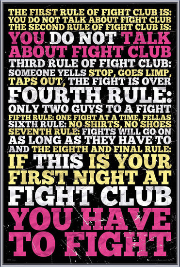 Plagát Fight club -  8 rules