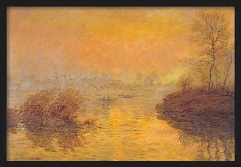 Sunset on the Seine at Lavacourt Obrazová reprodukcia