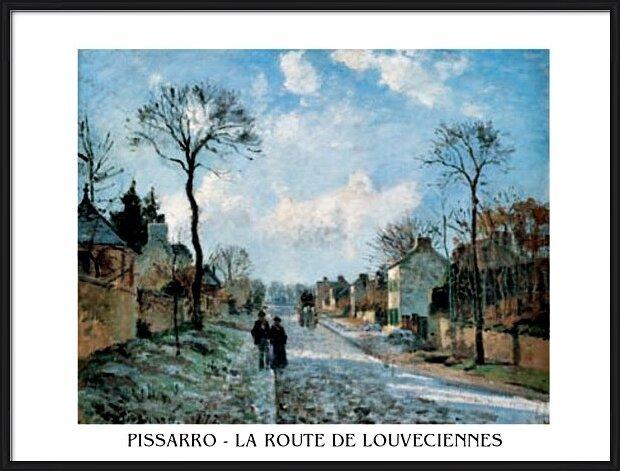 A Road in Louveciennes Obrazová reprodukcia