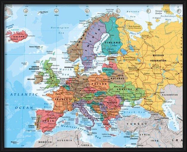 Plagát Politická mapa Európy 2014