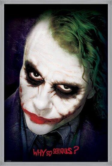 Plagát  Batman: Temný rytier - Joker Face