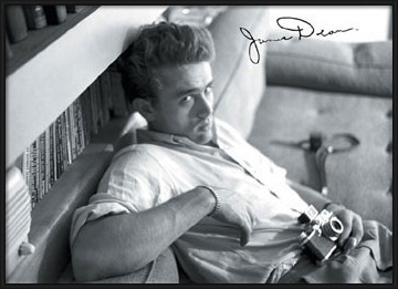 Plagát  James Dean - camera b&w