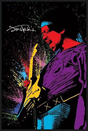 Plagát  Jimi Hendrix - Paint