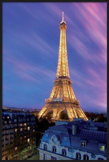Plagát Eiffel tower - at dusk