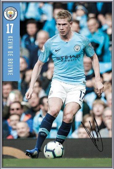 Plagát  Manchester City - De Bruyne 18-19
