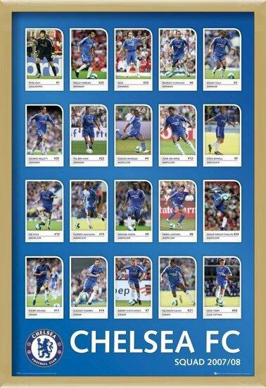 Plagát Chelsea - squad profiles 07/08