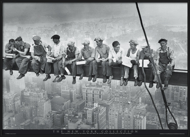 Plagát  Men on girder - New York
