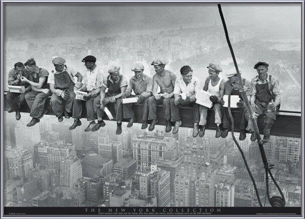 Plagát  Men on girder - New York