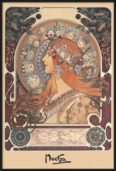 Plagát Alfons Mucha - zodiac