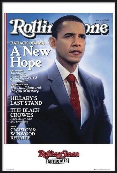 Plagát  Rolling stone - obama