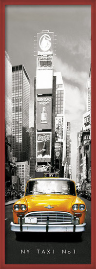 Plagát New York taxi no.1 - sepia