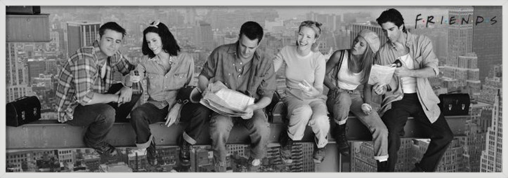 Plagát Friends - Lunch on a skyscraper
