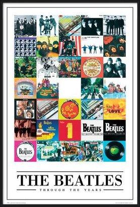 Plagát  Beatles - through the years