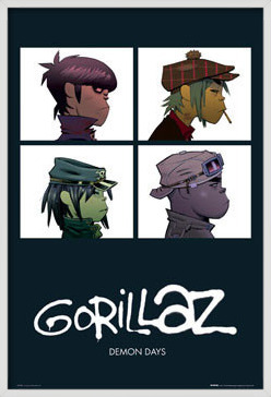 Plagát  Gorillaz - demon days