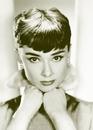 Audrey Hepburn - sepia